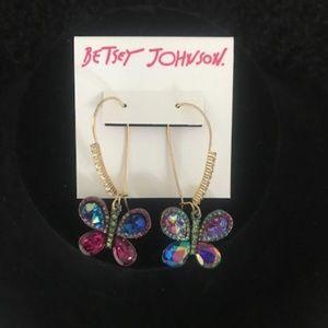 """BETSEY JOHNSON """"Gorgeous Butterfly"""" Earrings"""